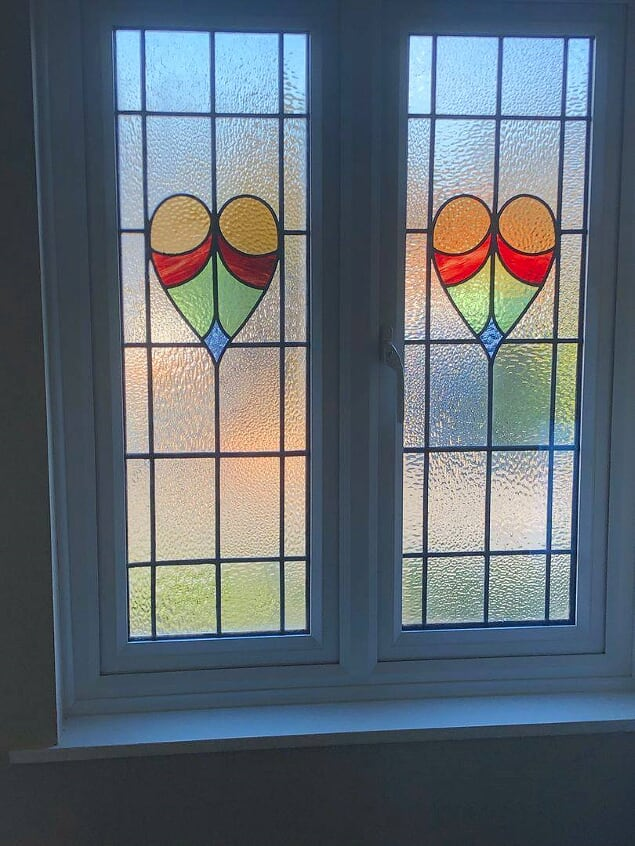The restored leaded lights in a new upvc frame