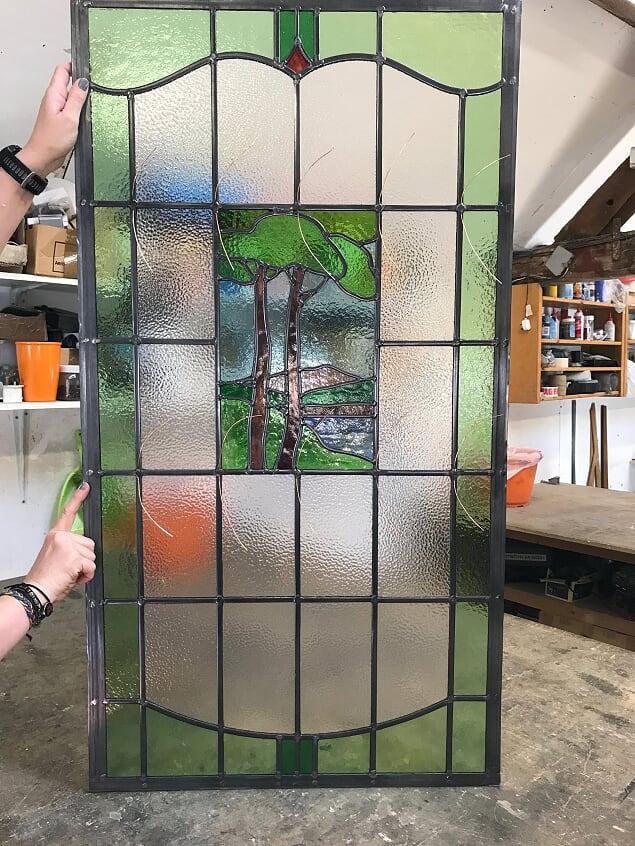 Restored front door panel