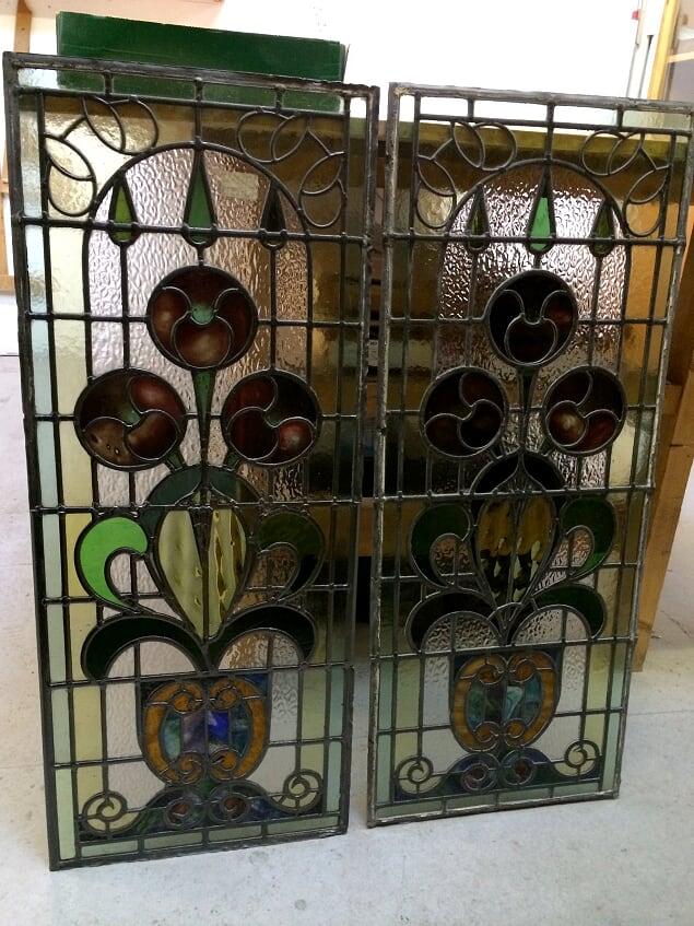 Restored door panel